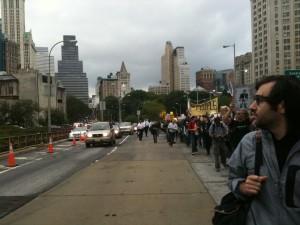 Occupy Wall Street Oct. 1 on the Brooklyn Bridge
