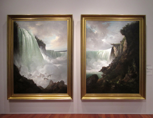 "Gustav Grunewald - ""The Niagara River at the Cataract"" and ""Horshoe Falls from below the High Bank"", 1832"