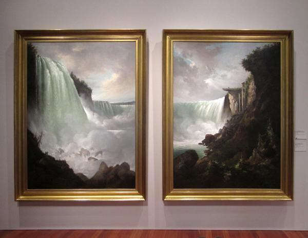 "Gustav Grunewald - ""The Niagara River at the Cataract"" and ""Horshoe Falls from below the High Bank"", 1832"